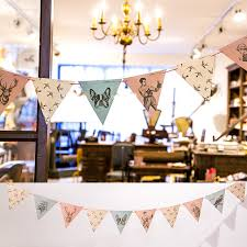 baby shower stores vintage style garland banners party flags kids birthday party
