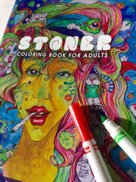stoner coloring book for adults weed stuff coloring