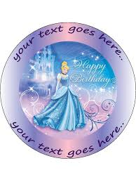 cinderella cake toppers personalised cake topper toppers pre cut disney princess icing