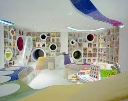 futuristic white wooden kids wall book shelf for high tecnology