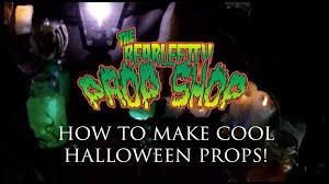 how to make cool halloween props bearleft tv prop shop youtube