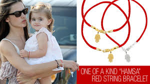 red string bracelet with charm images Get alessandra ambrosio 8217 s red string hamsa jpg
