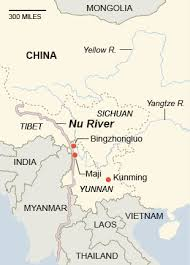 rivers in china map plans to harness china s nu river threaten a region the york
