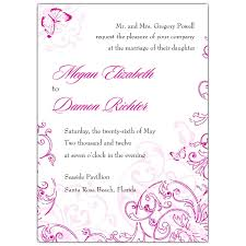 butterfly invitations baroque with butterfly pink wedding invitations paperstyle