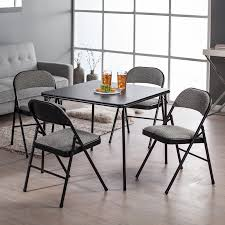 cosco 5 piece card table set black meco sudden comfort deluxe double padded chair and back 5 piece card