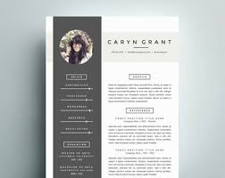 modern resume template and cover letter template for word