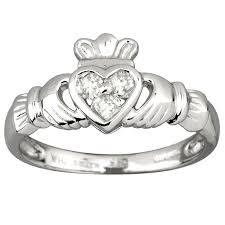 the claddagh ring fallers wedding jewellery 14k white gold diamond heart claddagh