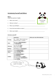 16 free esl introducing yourself worksheets