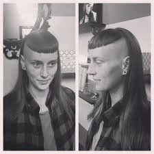 how to cut hair with a weight line she already has the weight line partially cut for a radically