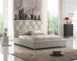 bookcase headboards queen tall modern leather bed diamond