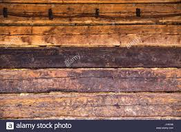wooden wall of old house of brown color burned wood wood texture