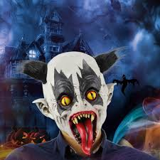 latex full head creepy bat clown mask toothy scary ghost masks