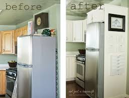 Kitchen Cabinets Plywood Side Of Fridge Command Center She Added A Plywood Wall I Also