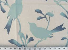 Upholstery Fabric With Birds Drapery Upholstery Fabric Birds Branches Leaves Silhouette Print