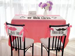 personalized table runner chair sign set ms mrs custom name
