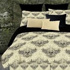 Full Size Bed Sheet Sets Street Revival Winged Skull 8 Piece Full Size Bed In A Bag With