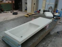 integrated sink vanity top integrated sink concrete countertop sink ideas