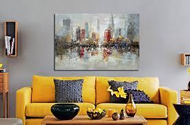 Handmade In New York - downtown new york city handmade painting on canvas