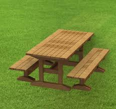 Building Plans For Picnic Table by Trestle Style Picnic Table Building Plans 6ft