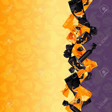 orange and purple halloween background with candy graphics are
