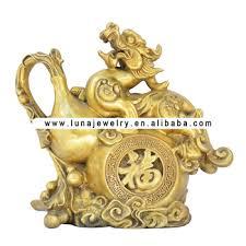 pixiu statue brass material pi xiu figurine in the wu lou gourds fengshui pi