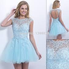 aliexpress com buy 2016 fashion light sky blue short prom