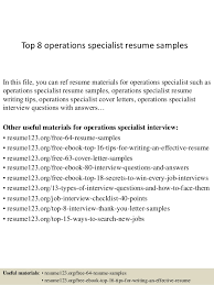 Quality Control Specialist Resume Best Solutions Of Operations Specialist Resume Sample In Download