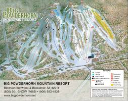 Big Sky Trail Map Big Powderhorn Mountain Resort Mountain Information