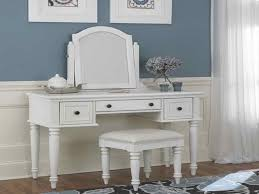 Make Up Vanity Tables Miscellaneous White Makeup Vanity Table Set With Bench
