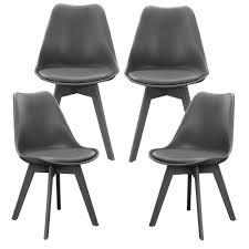 Esszimmer Set Ebay En Casa Esstisch Mit 4 Stühlen Schwarz Grau 140x60cm Küchentisch