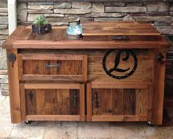 Rustic Bar Cabinet with Reclaimed Cooler Bar Cabinet Reclaimed U2026 Rustic Woodworx Usa