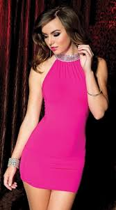 hot dress neck hot pink mini dress high neck mini dress hot pink dress