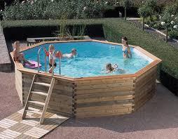 piscine hors sol bois octoo m1 ø 6 25 m h 1 33 m gardipool
