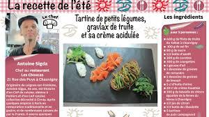 cap cuisine poitiers tartine de petits légumes gravlax de truite et sa crème par le