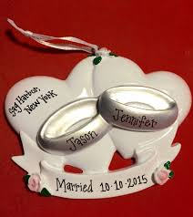 free shipping wedding rings personalized christmas ornament