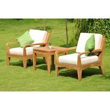 Patio Furniture From Walmart by Wholesaleteak Outdoor Patio Grade A Teak Wood 3 Piece Teak Sofa
