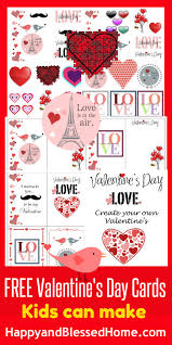 kids valentines day cards free s day cards kids can make happy and blessed home