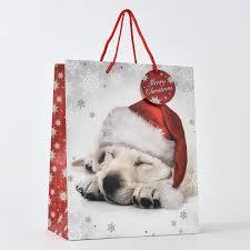 christmas dog large gift bag only 1 29