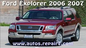 ford explorer 2006 2007 manual de reparacion mecanica youtube