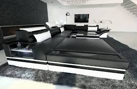 sofa mit led design sectional sofa mezzo with led lights black white ebay