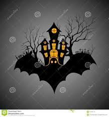haunted castle in scary halloween night stock vector image 45194114