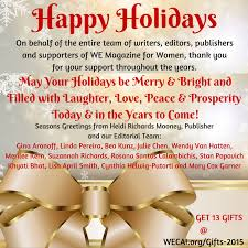 happy holidays from we magazine for we magazine for