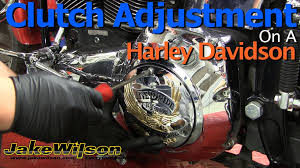 harley davidson clutch and clutch cable adjustment youtube