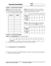 experimental probability worksheets free worksheets library