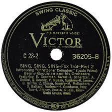 sing sing sing with a swing louis prima 78 rpm various artists a symposium of swing victor usa