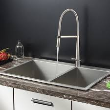 kitchen sink with faucet set ruvati rvc2404 stainless steel kitchen sink and stainless steel