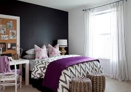 Bold Black And White Bedrooms With Bright Pops Of Color - Black white and silver bedroom ideas