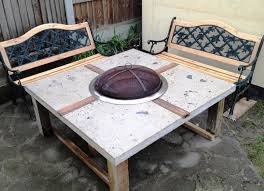 Fire Pit And Chair Set Fire Pit Table And Chairs Set Benches Home Fireplaces Firepits