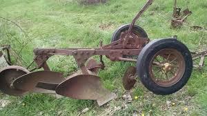 john deere 2 bottom antique tractor plow no reserve farmall allis