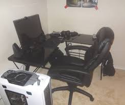 desk amazing pc gaming desk alluring pc gaming setup with two